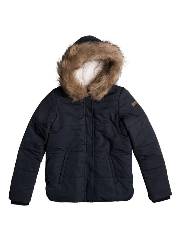 0 Evergreen Tree - Hooded Puffer Jacket for Girls 8-16  ERGJK03042 Roxy