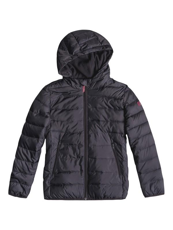 0 Wonderfull Tonight - Hooded Puffer Jacket for Girls 8-16 Black ERGJK03056 Roxy