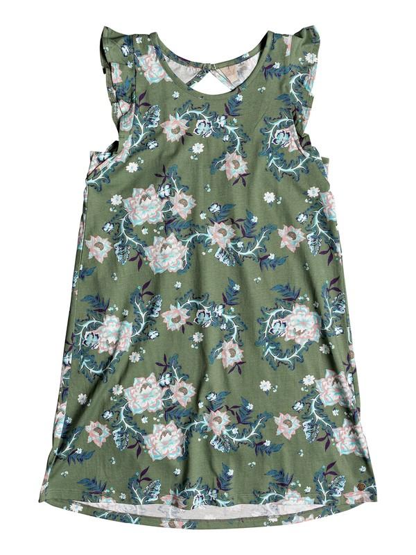 0 Girls 7-14 Lovely Place Tank Dress Green ERGKD03059 Roxy