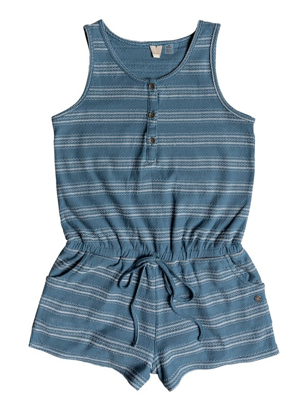 0 Girls 7-14 Summer Awakening Romper Blue ERGKD03060 Roxy