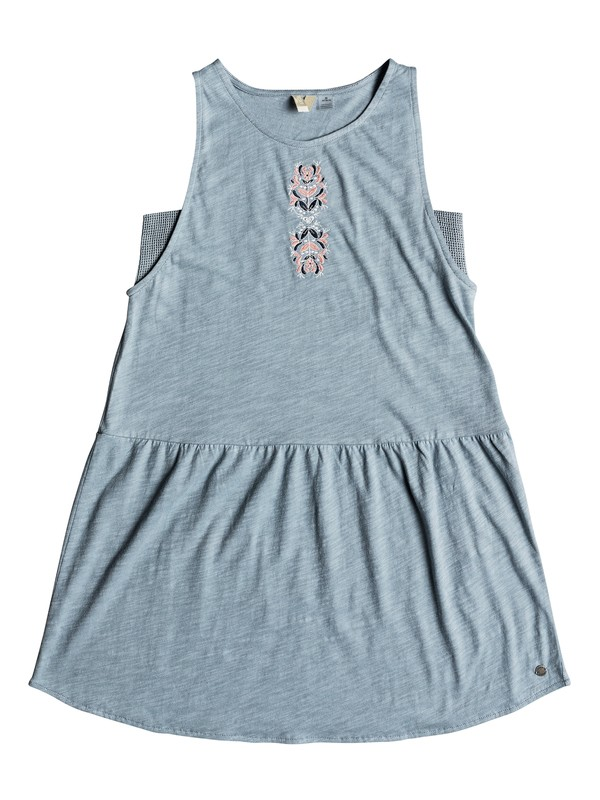 0 Girls 7-14 Walk Together Tank Dress Blue ERGKD03068 Roxy