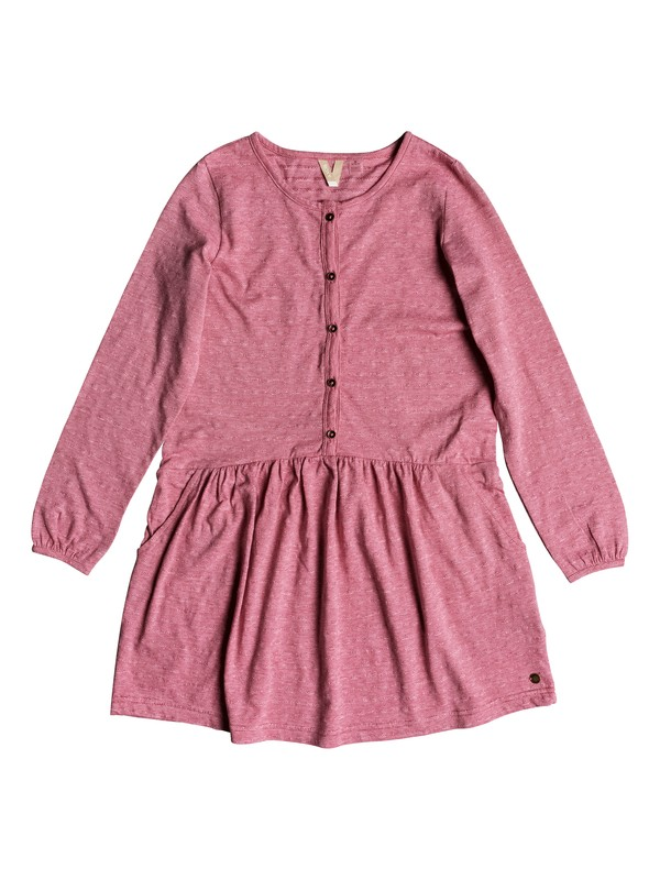 0 Girl's 7-14 You Are Gold Long Sleeve Dress Pink ERGKD03071 Roxy