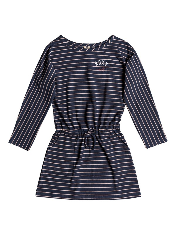 0 Girl's 7-14 Stay This Way Long Sleeve Dress Orange ERGKD03077 Roxy