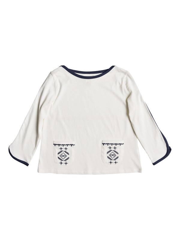 0 Girls 7-14 May Flowers 3/4 Sleeve Top  ERGKT03070 Roxy