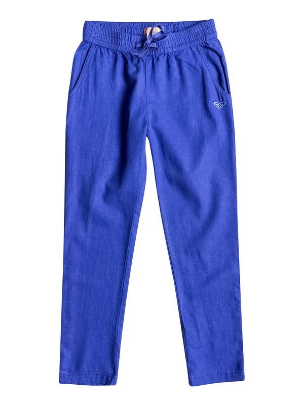 0 Girls 7-14 Can't Sleep At Night Linen Pants  ERGNP03011 Roxy