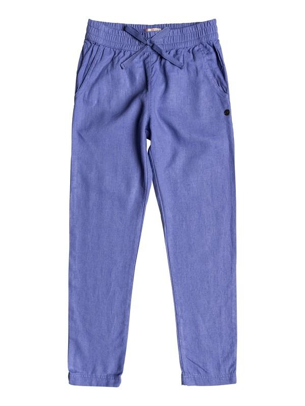 0 Girl's 7-14 Friendly People Linen Pants  ERGNP03013 Roxy