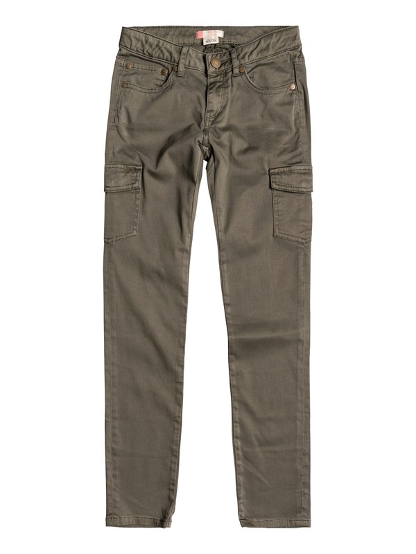 0 Time To Know - Pantaloni Cargo Green ERGNP03020 Roxy
