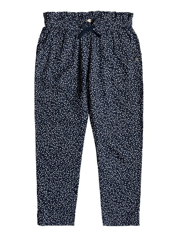 0 Happiest Day - Pantalón de Viscosa para Chicas 8-16 Azul ERGNP03048 Roxy