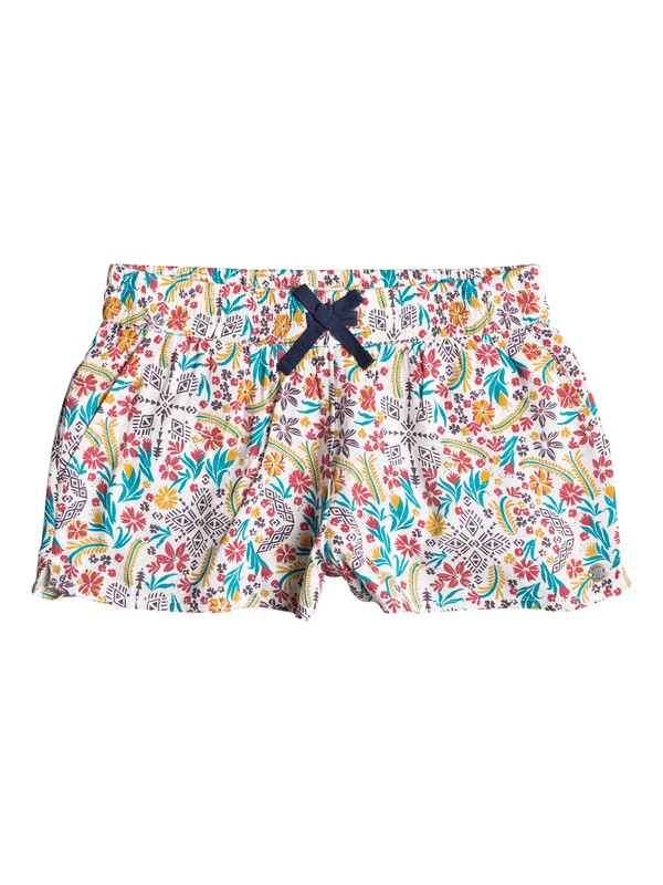 0 Girls 7-14 Enchanted Melody Beach Shorts White ERGNS03020 Roxy