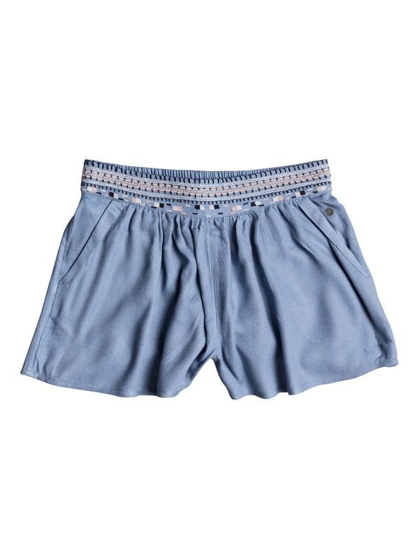0 Girl's 7-14 Getting Dizzy Viscose Shorts Blue ERGNS03024 Roxy