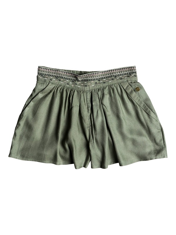 0 Girls 7-14 Getting Dizzy Beach Shorts Green ERGNS03024 Roxy