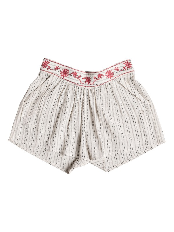 0 Girls 7-14 Deeper Dive Beach Shorts White ERGNS03026 Roxy