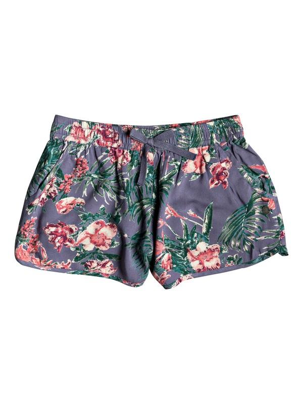 0 Shorts de Playa Heart On Fire Azul ERGNS03027 Roxy