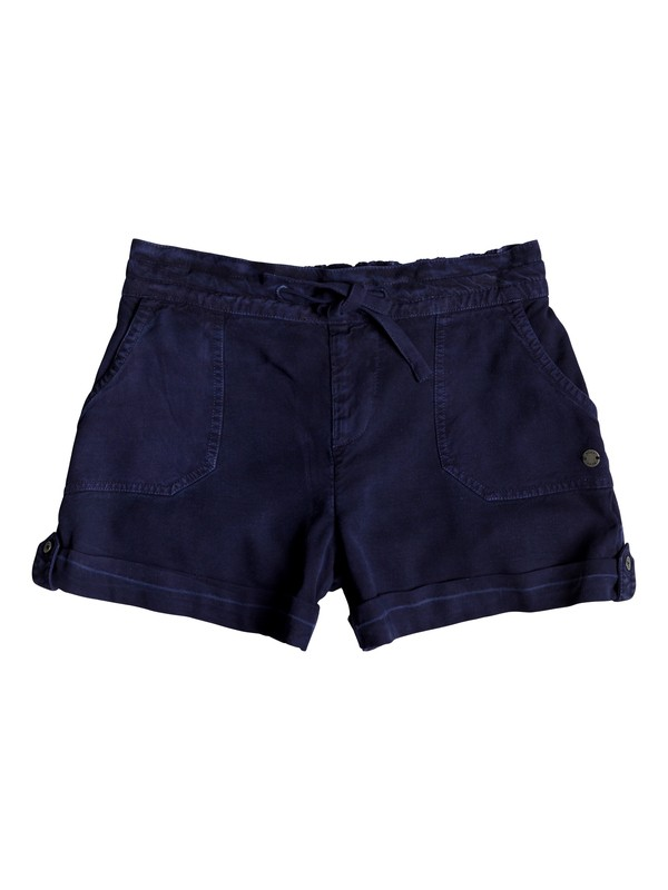 0 Goldy Rain - Cuff Shorts for Girls 8-16 Azul ERGNS03037 Roxy