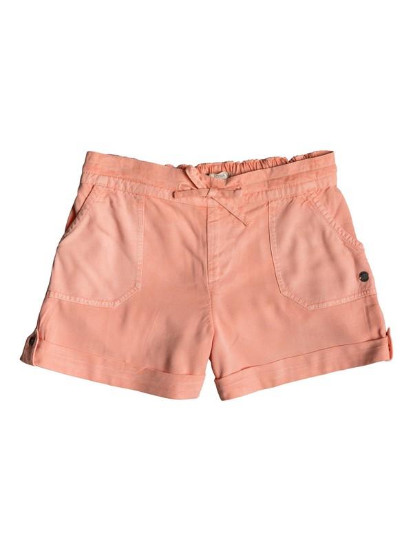 0 Goldy Rain - Cuff Shorts for Girls 8-16 Rosa ERGNS03037 Roxy