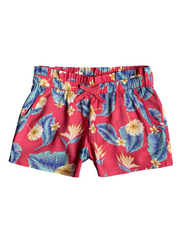 0 Rainbow Shower - Short de Viscosa para Chicas 8-16 Rosa ERGNS03038 Roxy