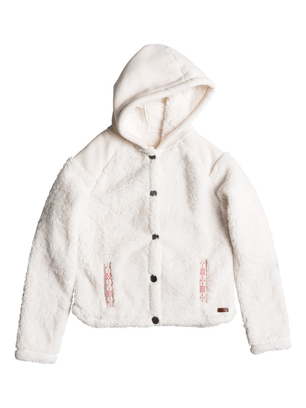 0 Oats To Water - Plush Fleece Jacket White ERGPF03008 Roxy