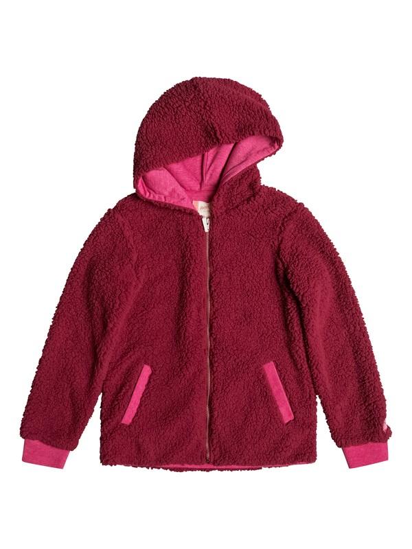 0 Share New Words - Sweat à capuche zippé Rose ERGPF03011 Roxy