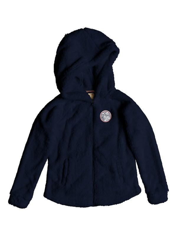 0 Elastic Heart - Zip-Up Sherpa Hoodie for Girls 8-16 Blue ERGPF03014 Roxy