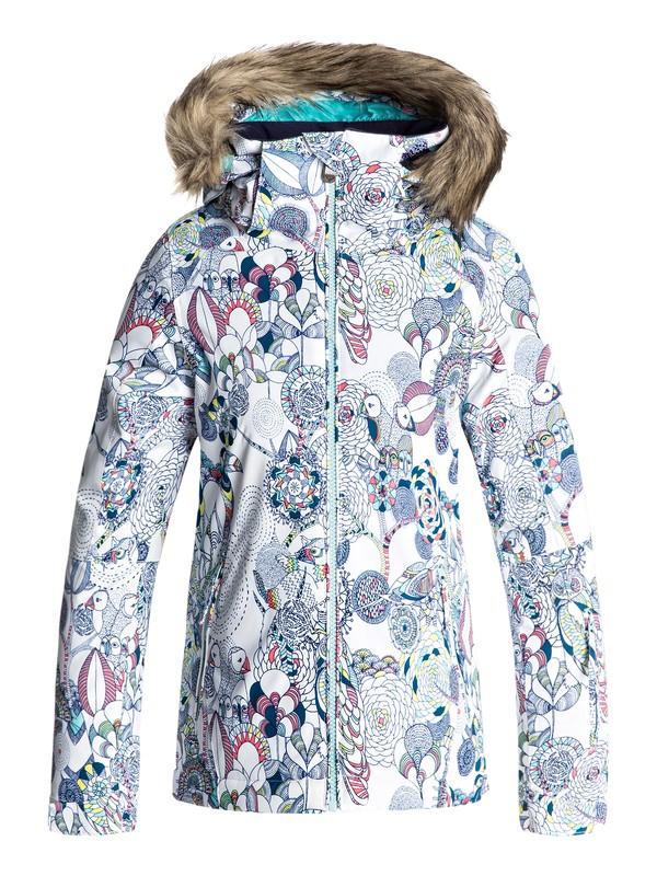 0 Jet Ski - Snow Jacke für Mädchen 8-16 Weiss ERGTJ03034 Roxy