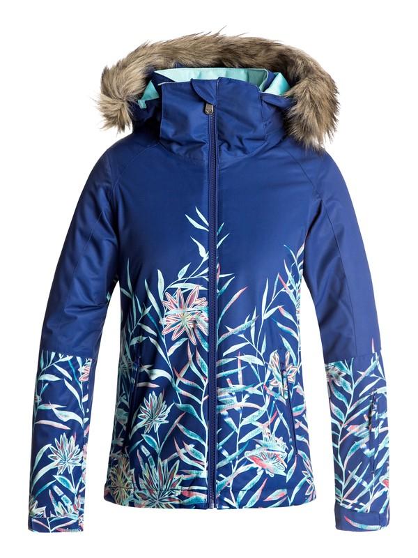0 Girls 7-14 American Pie SE Snow Jacket Blue ERGTJ03043 Roxy