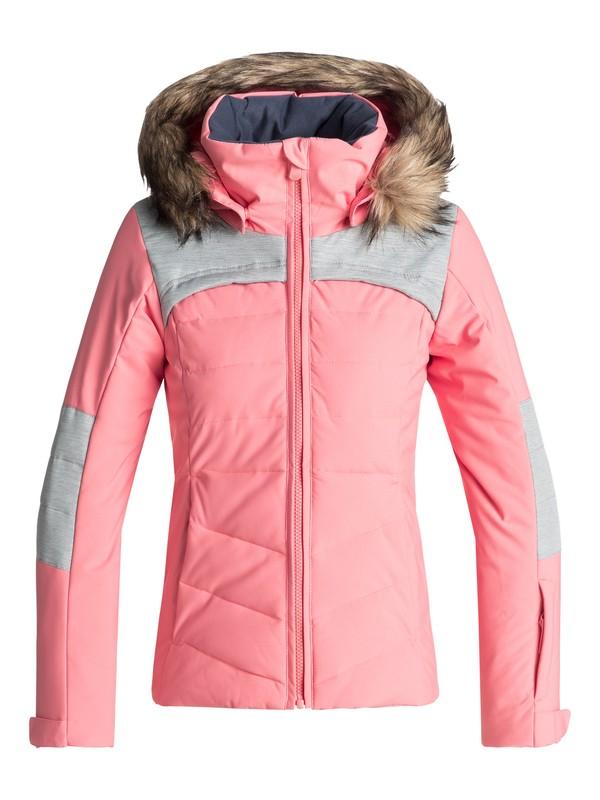0 Girl's 7-14 Bamba Snow Jacket Pink ERGTJ03050 Roxy