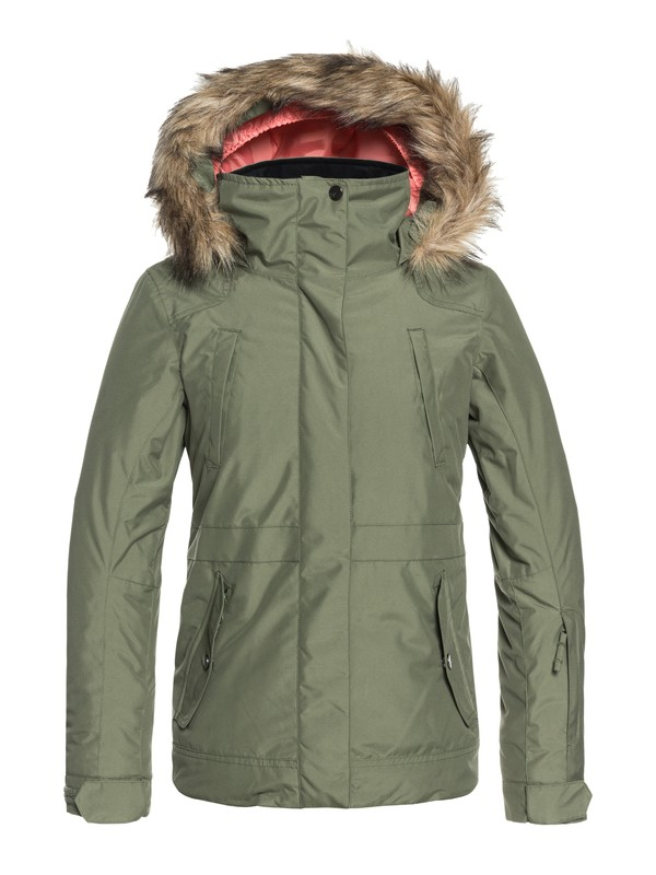 0 Girls 7-14 Tribe Snow Jacket Green ERGTJ03051 Roxy