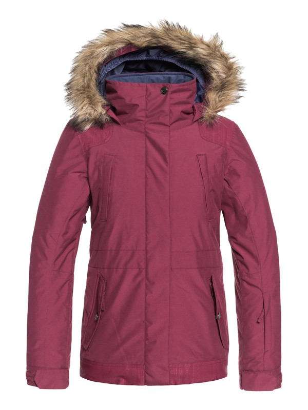 0 Girl's 7-14 Tribe Snow Jacket Red ERGTJ03051 Roxy