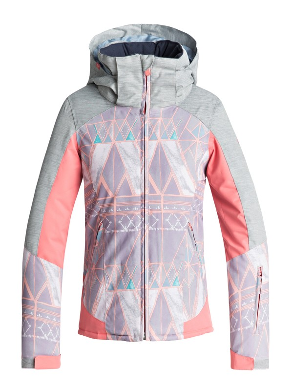 0 Girl's 7-14 Sassy Snow Jacket Grey ERGTJ03052 Roxy