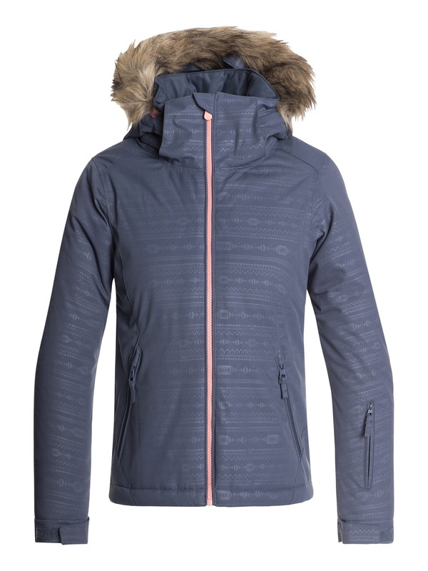 0 Girls 7-14 American Pie Snow Jacket Blue ERGTJ03057 Roxy