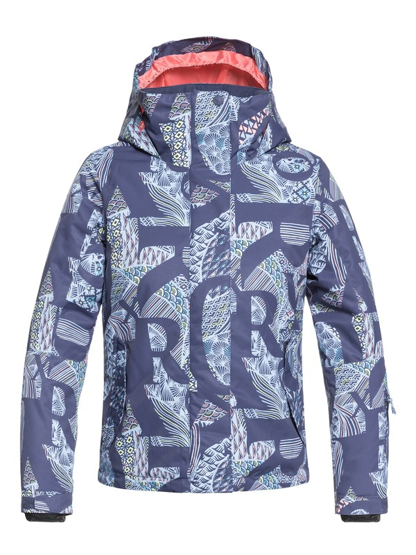 0 Girls 7-14 ROXY Jetty Snow Jacket Blue ERGTJ03058 Roxy