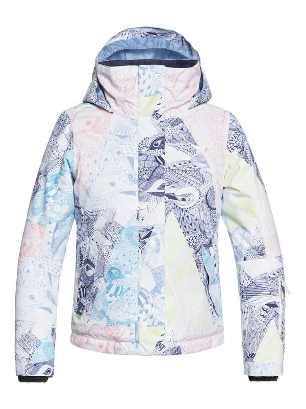 0 Girl's 7-14 ROXY Jetty Snow Jacket White ERGTJ03058 Roxy