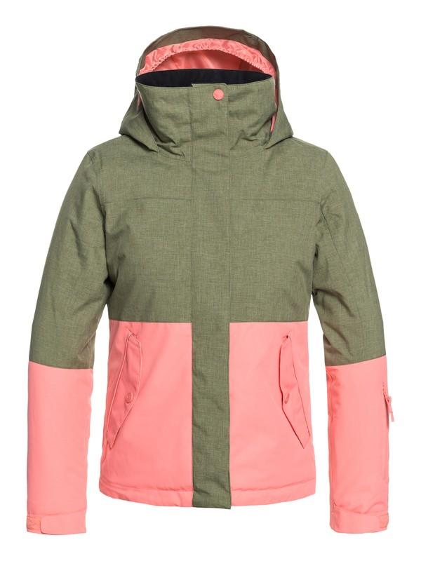 0 Girl's 7-14 ROXY Jetty Block Snow Jacket Green ERGTJ03059 Roxy