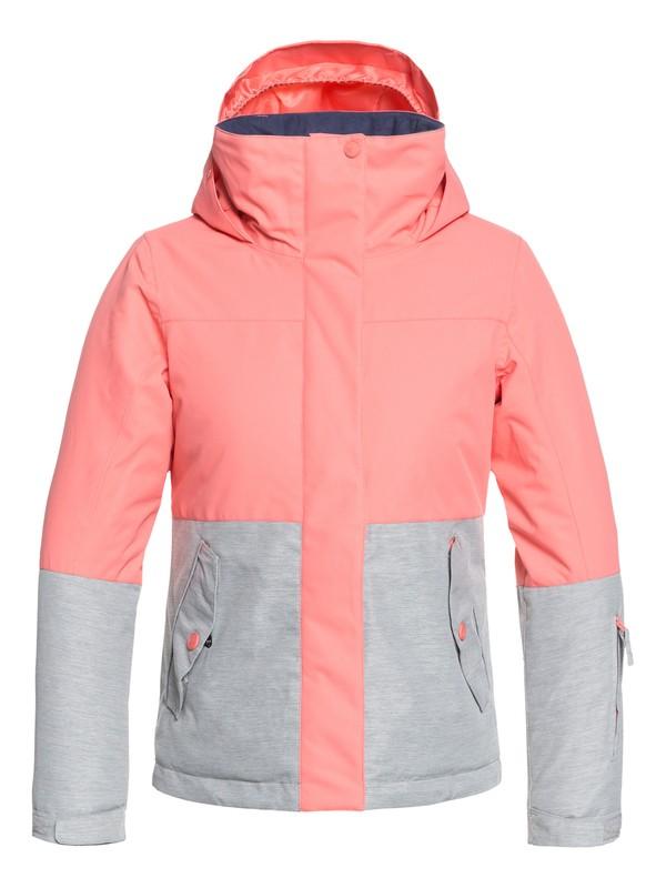 0 Girl's 7-14 ROXY Jetty Block Snow Jacket Pink ERGTJ03059 Roxy