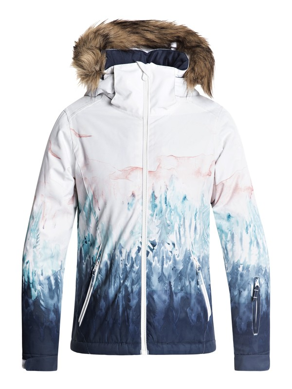 0 Girls 7-14 American Pie SE Snow Jacket White ERGTJ03062 Roxy