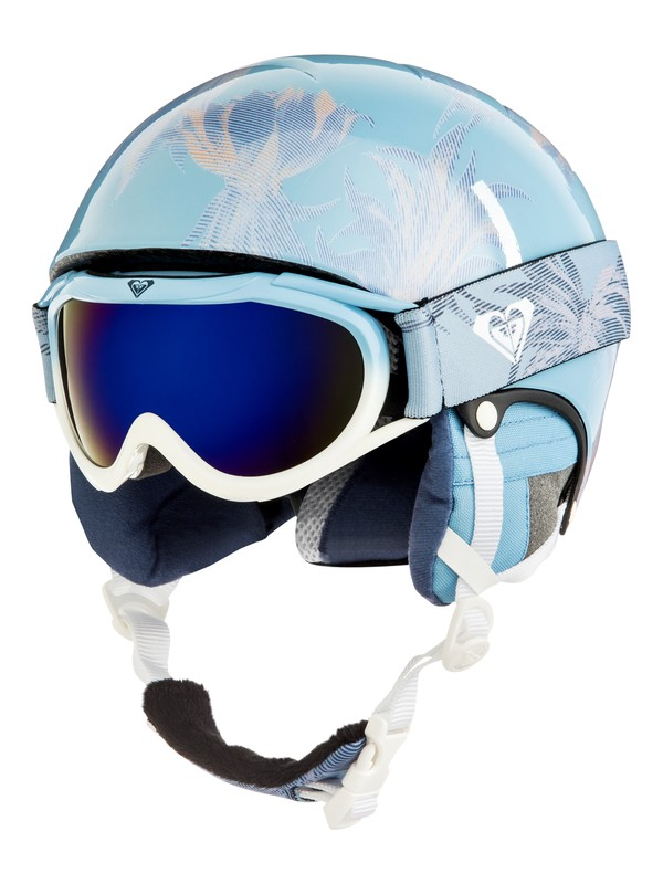 0 Girl's 7-14 Girls 7-14 Misty Helmet and Goggle Set Blue ERGTL03001 Roxy