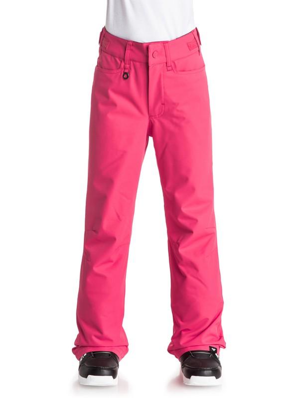 0 Girls 7-14  Backyard Snow Pants Pink ERGTP03006 Roxy