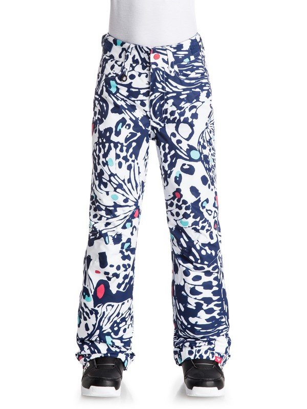 0 Girls 7-14 Backyard Printed Snow Pants  ERGTP03008 Roxy
