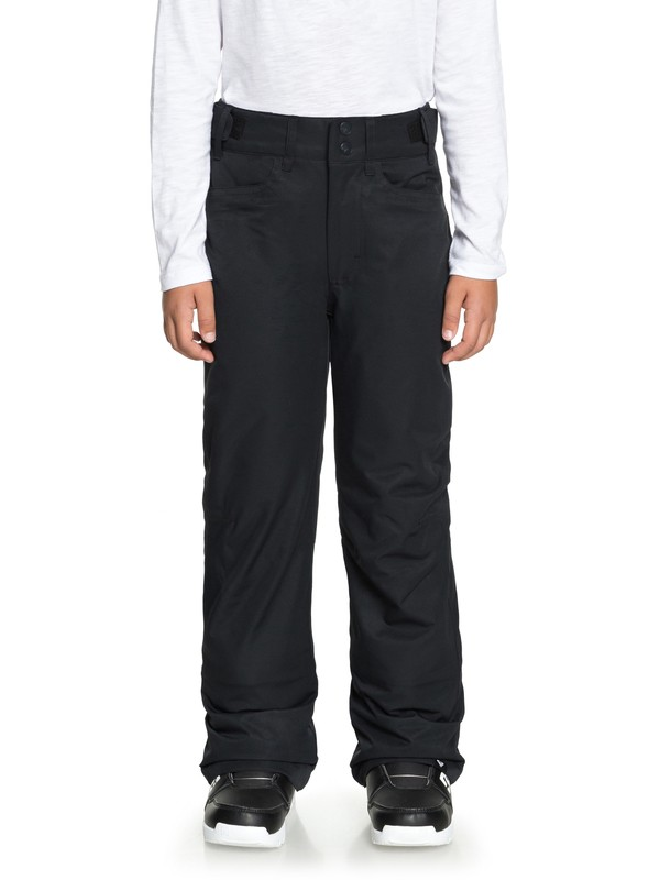 0 Girl's 7-14 Backyard Snow Pants Black ERGTP03015 Roxy