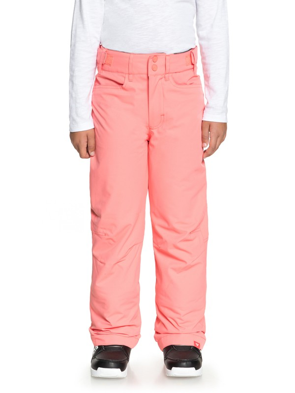 0 Girl's 7-14 Backyard Snow Pants Pink ERGTP03015 Roxy