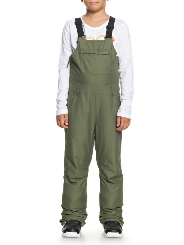 0 Girls 7-14 Non Stop Snow Bib Pants Green ERGTP03016 Roxy