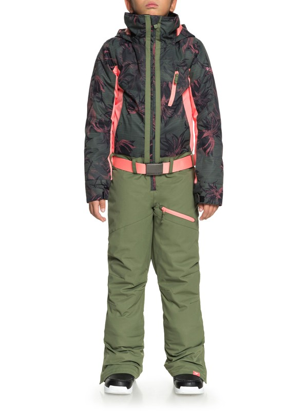 0 Impression - Combinaison de snow pour Fille 8-16 ans Noir ERGTS03001 Roxy