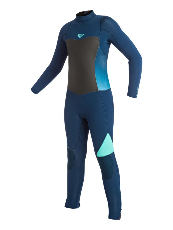 0 Girl's 7-14  Syncro 3/2mm Back Zip Full Wetsuit  ERGW103003 Roxy