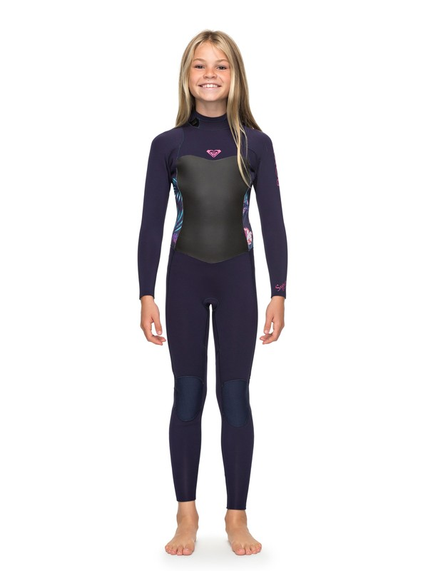 0 Girl's 7-14 3/2mm Syncro Series Back Zip GBS Wetsuit Blue ERGW103013 Roxy