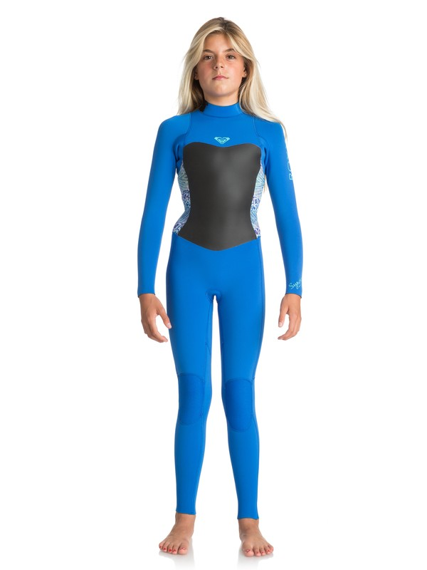 0 3/2mm Syncro Series - Back Zip GBS Wetsuit for Girls 8-16 Blue ERGW103013 Roxy