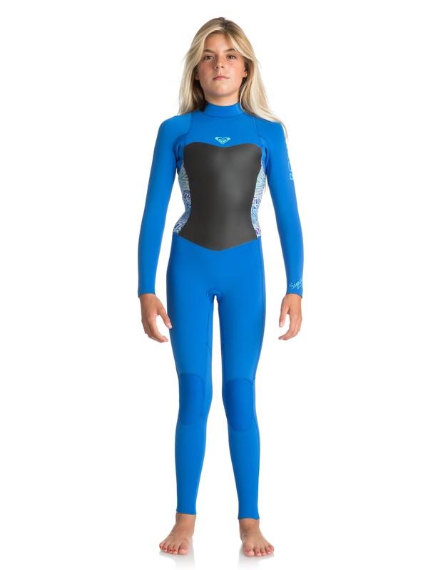 0 3/2mm Syncro Series - Back Zip GBS Wetsuit Blue ERGW103013 Roxy