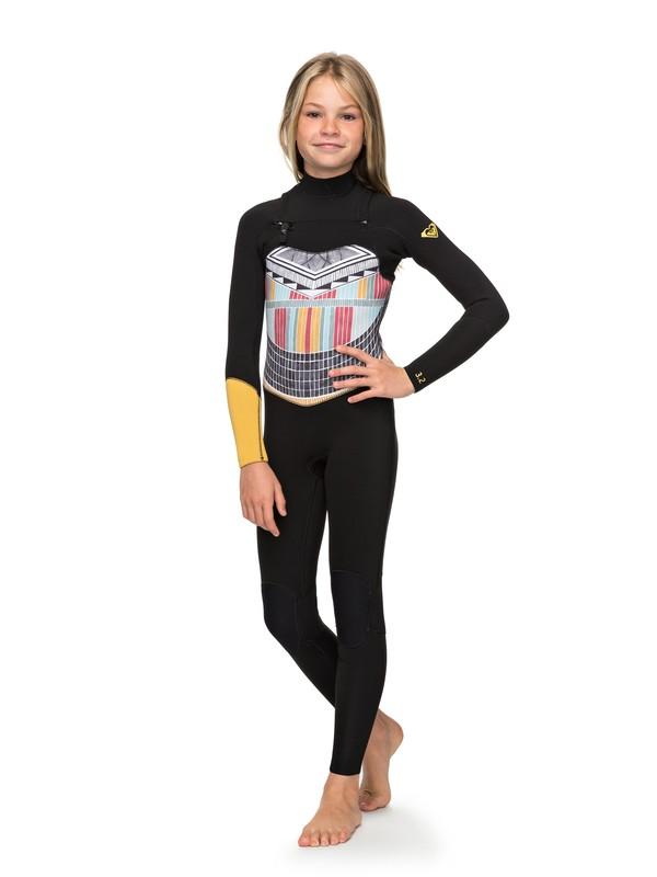 0 3/2mm POP Surf - Combinaison zip poitrine pour Fille 8-16 ans Noir ERGW103019 Roxy