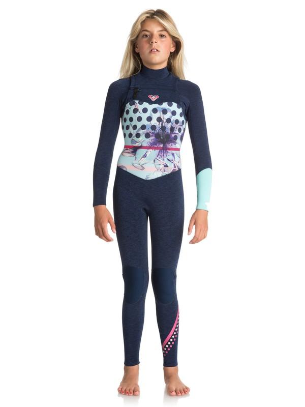 0 3/2mm POP Surf - Combinaison zip poitrine pour Fille 8-16 ans Bleu ERGW103021 Roxy