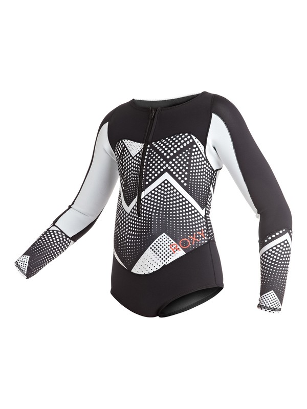 0 Girl's 7-14 Pop Surf 1mm Back Zip Long Sleeve Springsuit  ERGW403000 Roxy