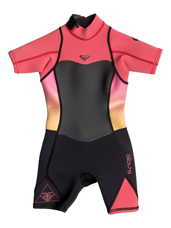 0 Girls 2-6  Syncro 2mm Back Zip Short Sleeve Springsuit  ERGW503002 Roxy